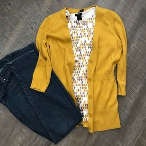 Ann Taylor Sweaters - Ann Taylor Mustard Cardigan